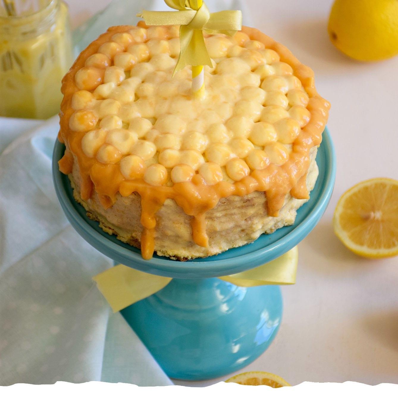 Lemon cake with Lemon Curd Mobile