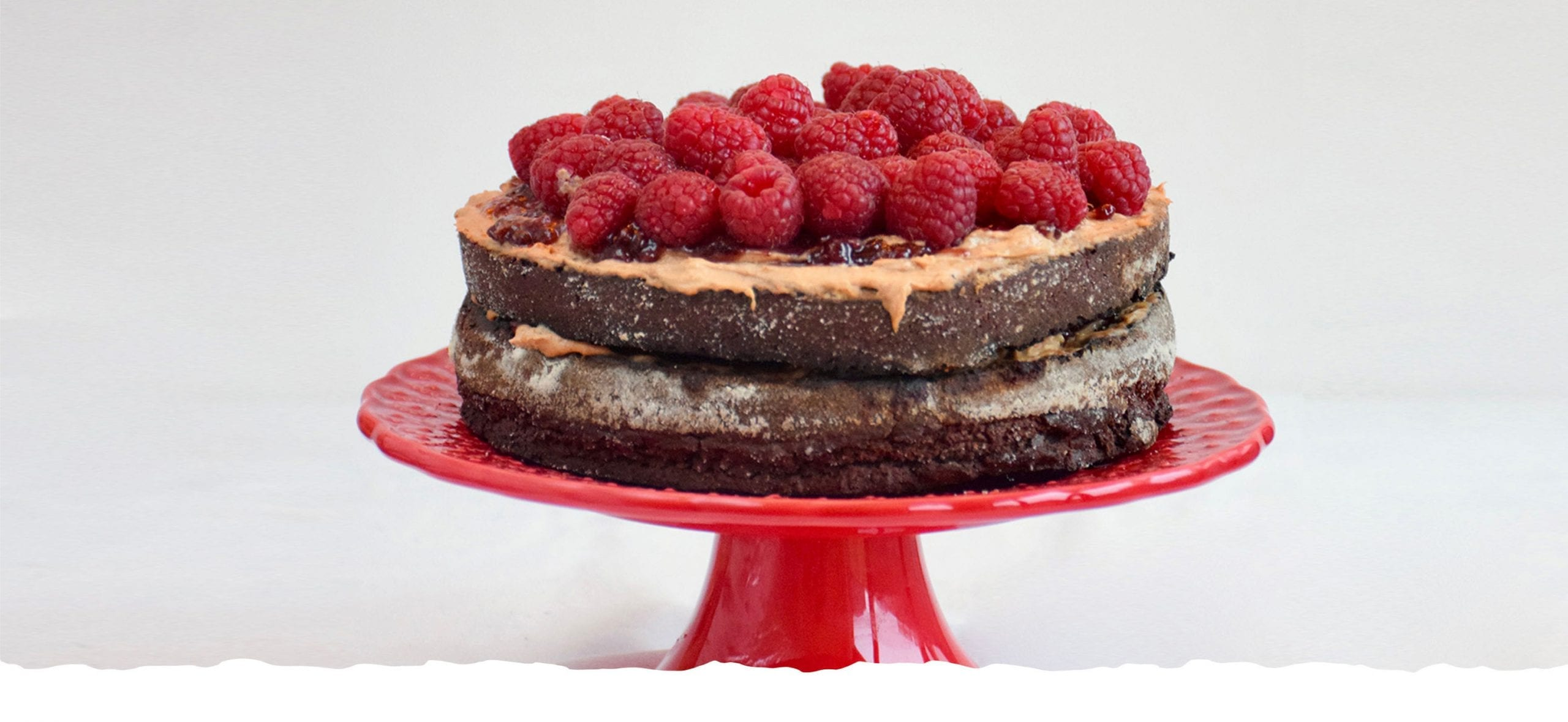 Peanut Butter Cake with Wild Berries Jam