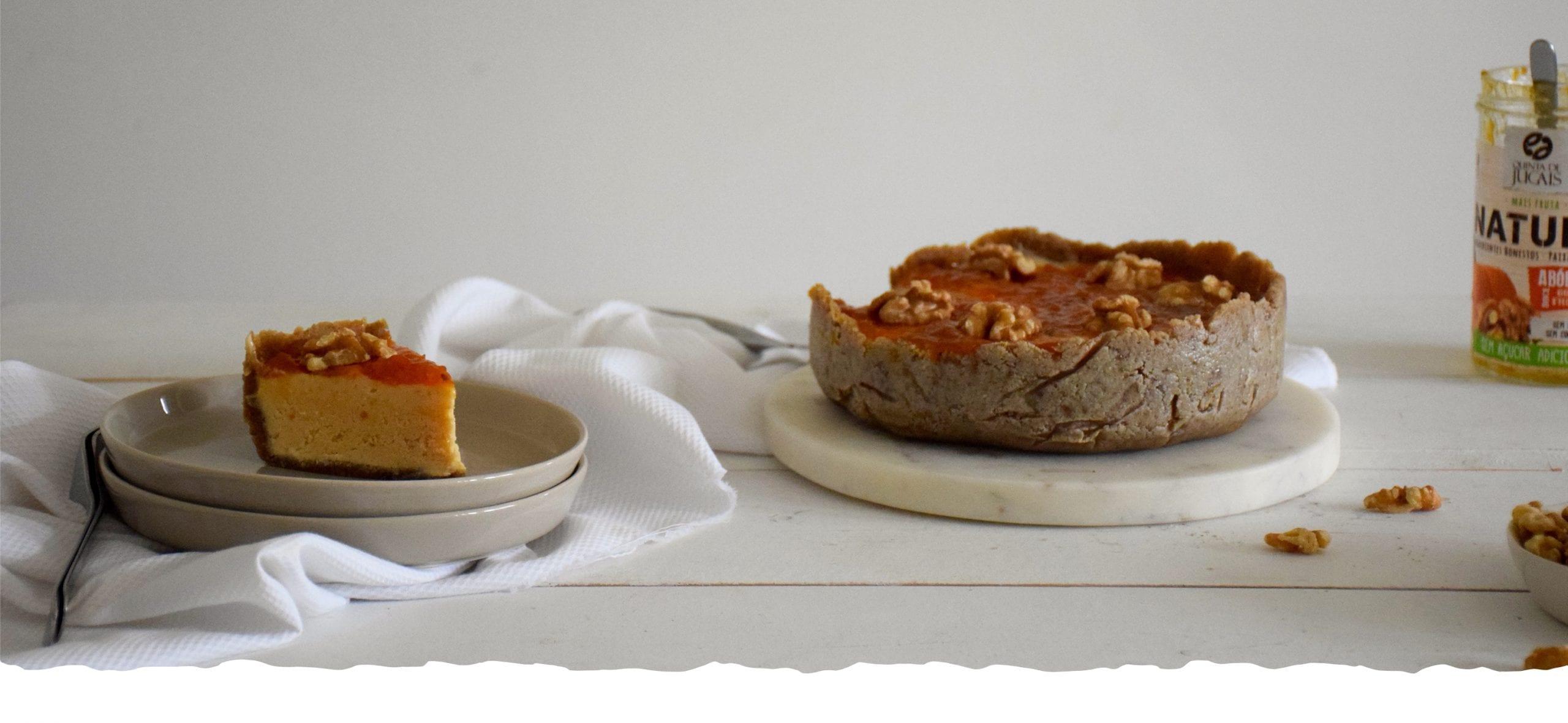 Cheesecake com Doce Natura de Abóbora com Noz