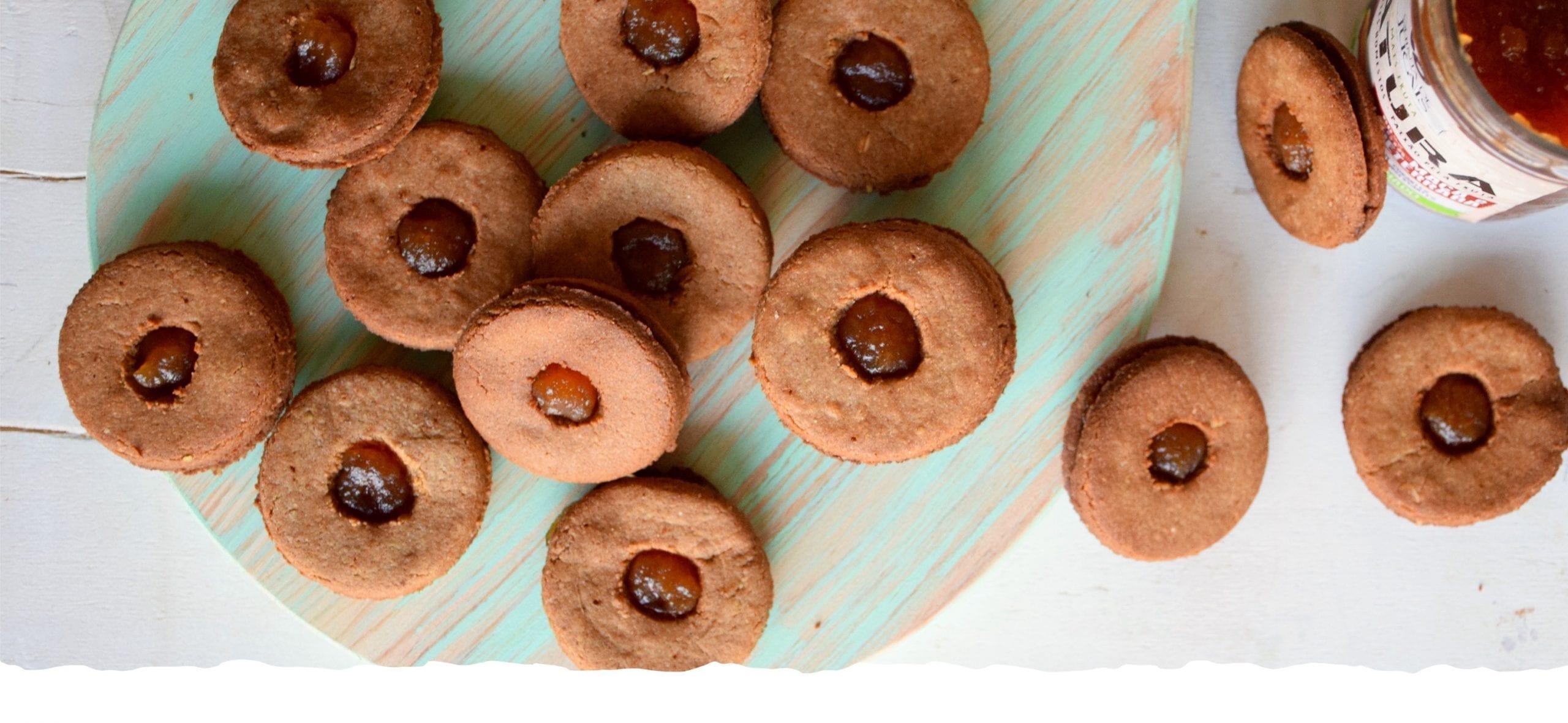 Cookies de Amaranto com Doce de Natura Maçã e Beterraba