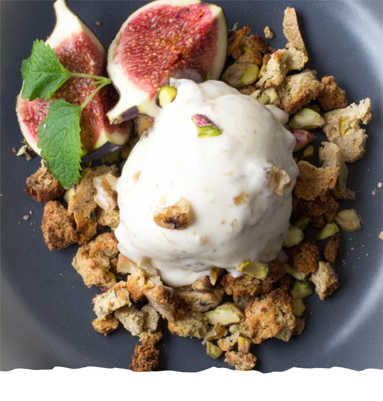 Ice Cream with Fig and Walnuts Jam Mobile