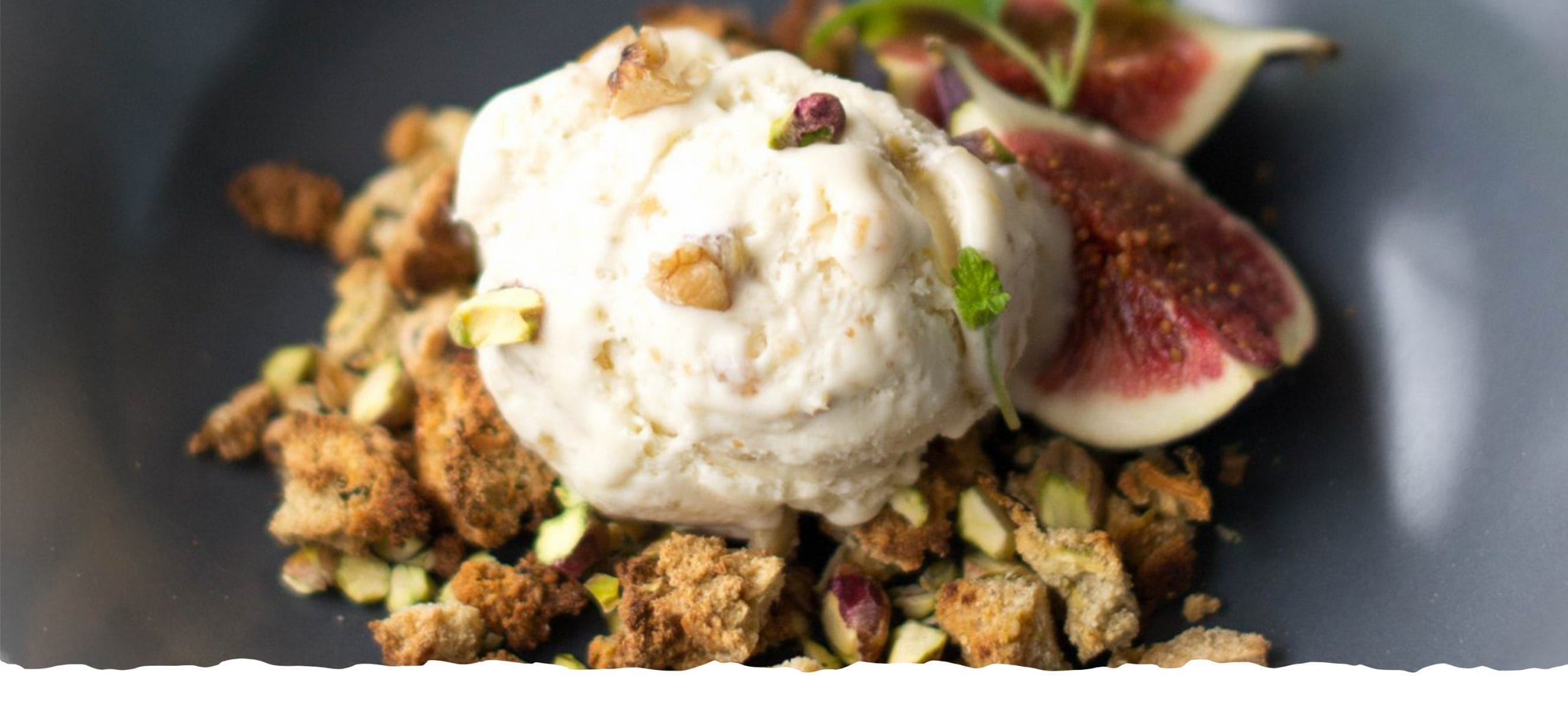 Ice Cream with Fig and Walnuts Jam