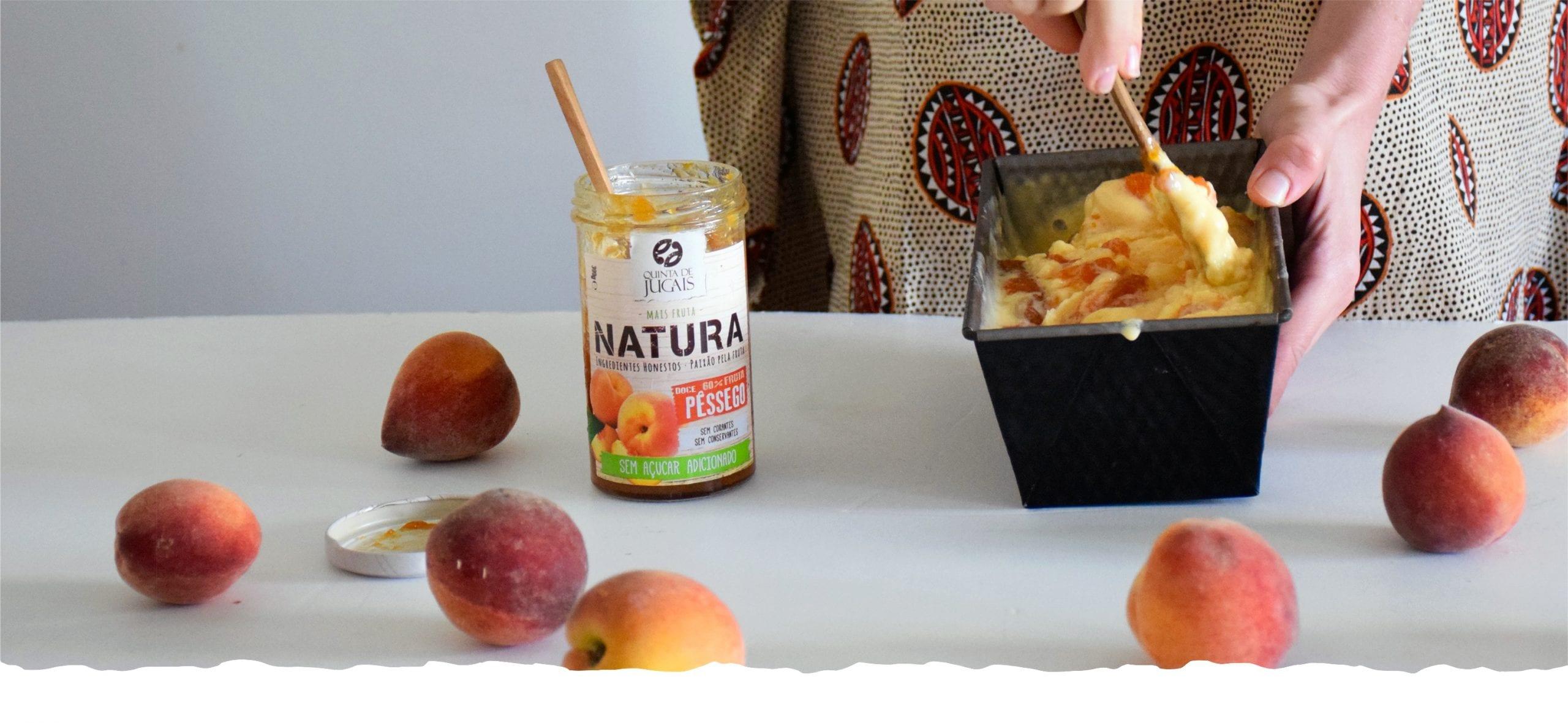 Healthy Ice Cream with Natura Peach Jam