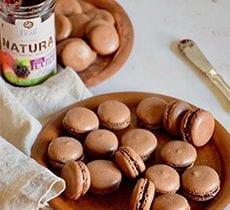 Chocolate Macarons with Wild Berries Jam