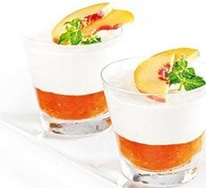 Panacotta with Mint and Peach Jam