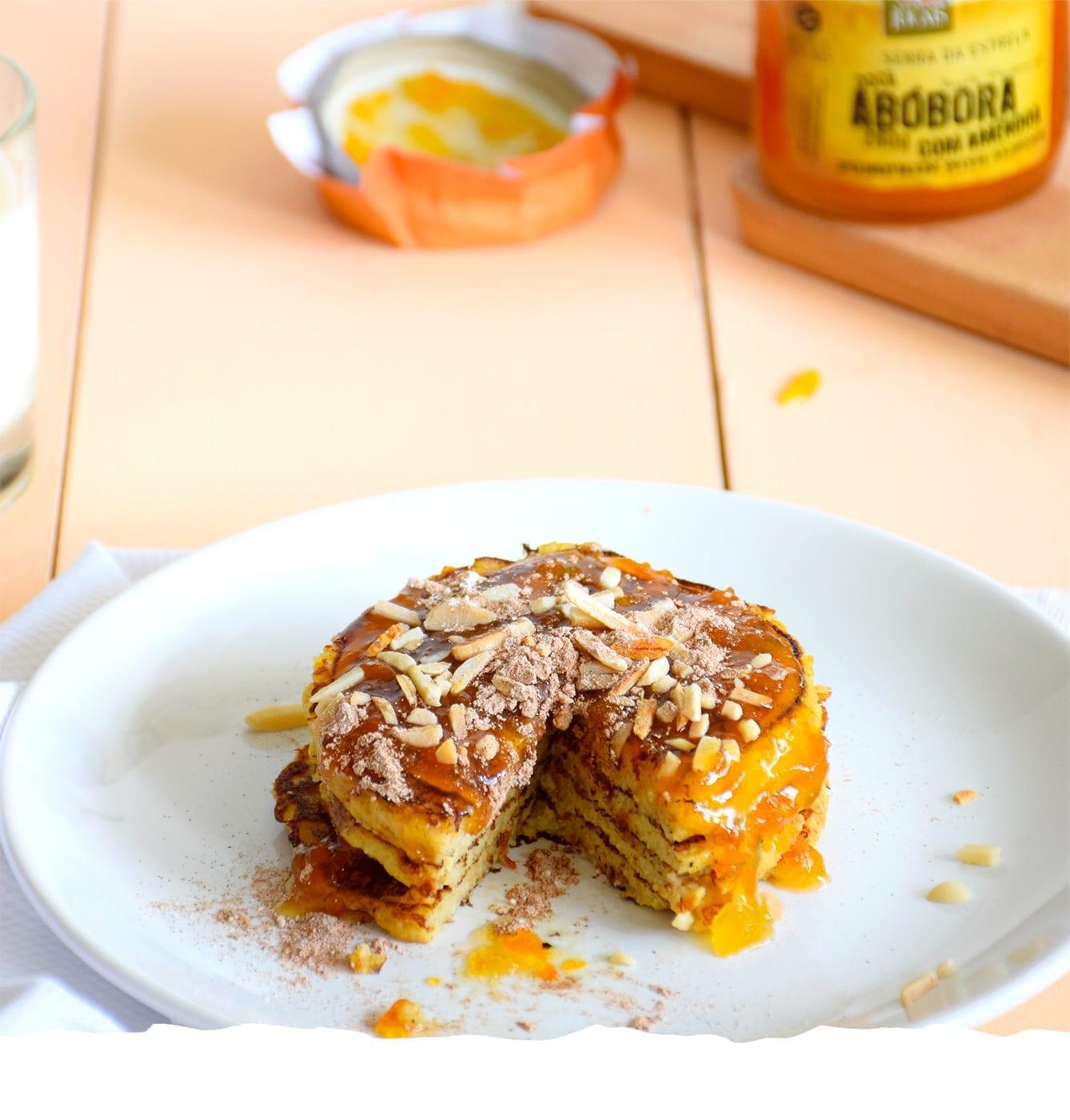 Pumpkin Pancakes with Pumpkin and Almonds Jam Mobile
