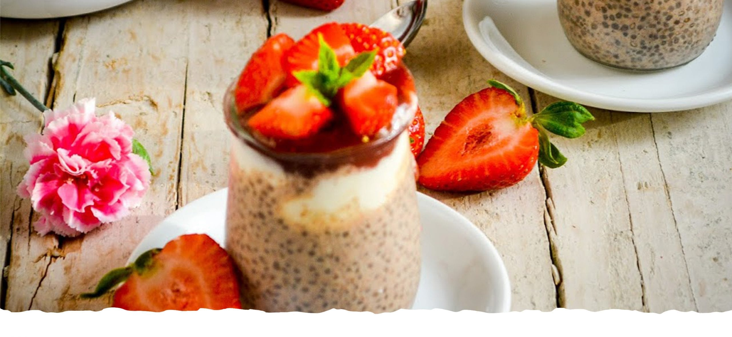 Chia, Cinnamon and Strawberry Pudding