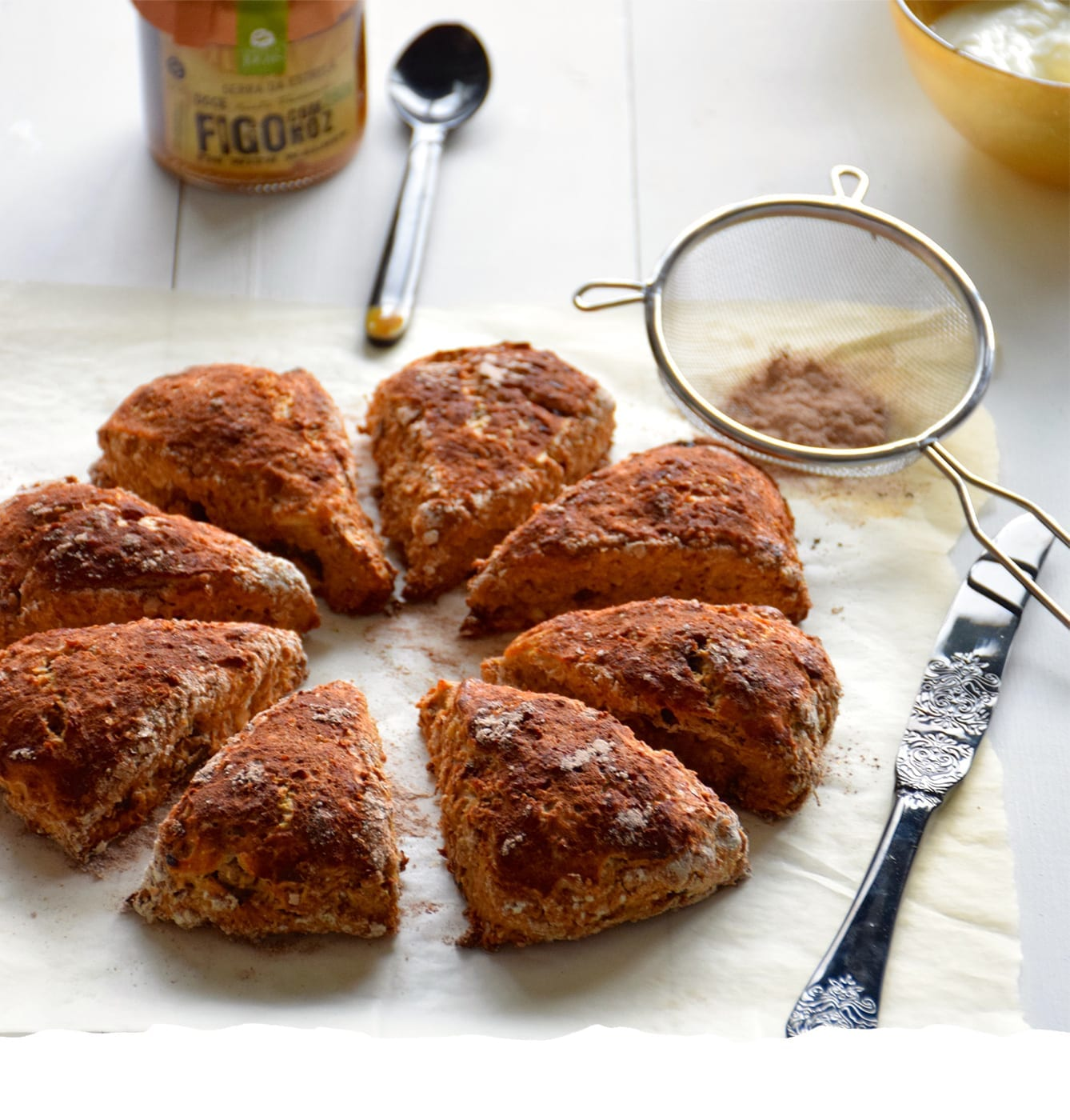 Scones with Fig and Walnut Jam Mobile