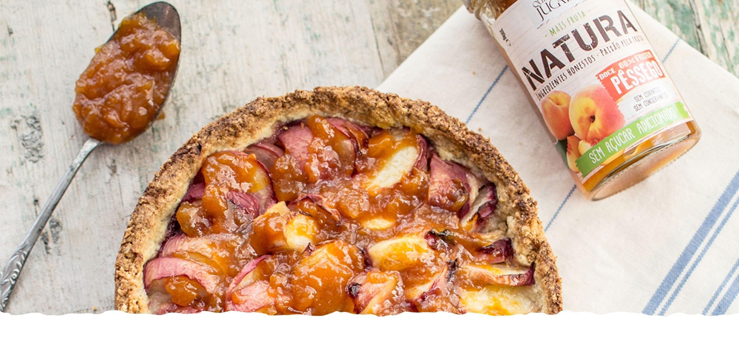 Pie with Natura Peach Jam
