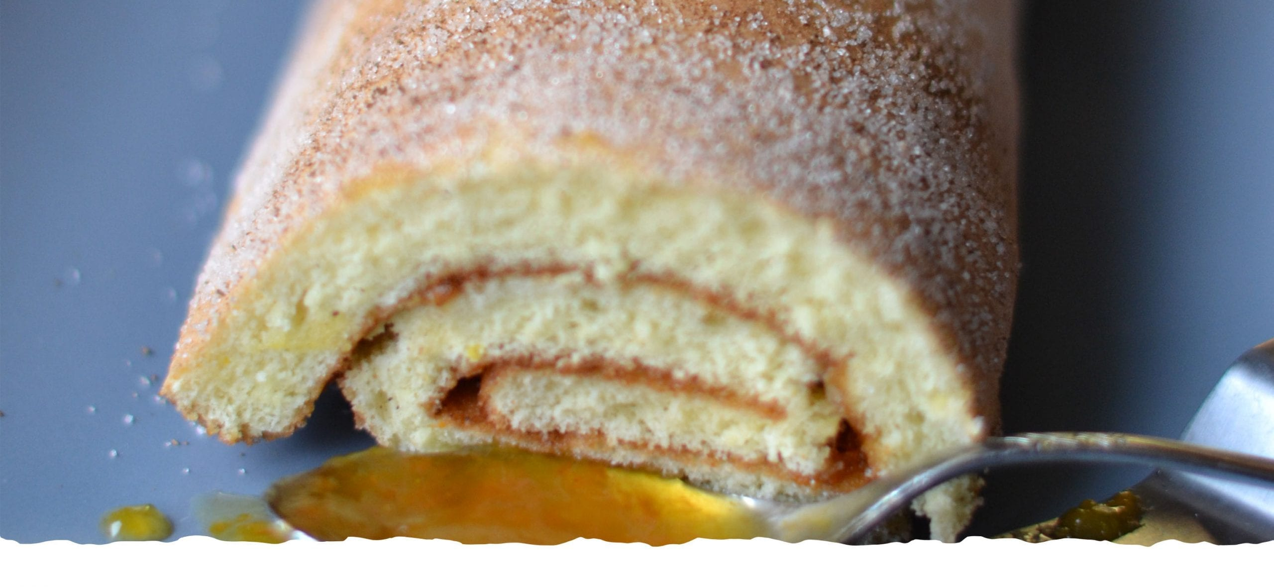 Swiss Roll Cake with Pumpkin and Almond Jam