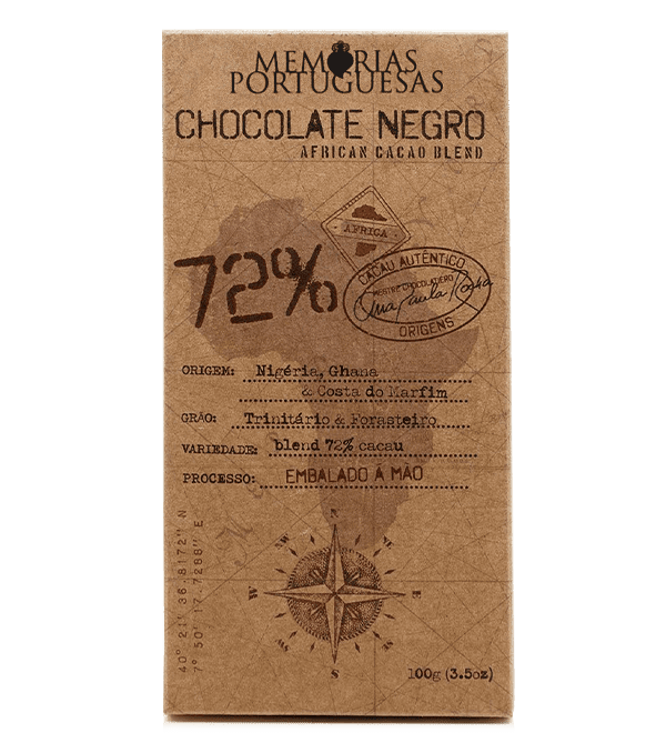 Tablete de Chocolate Negro Artesanal 72% Cacau Essentia