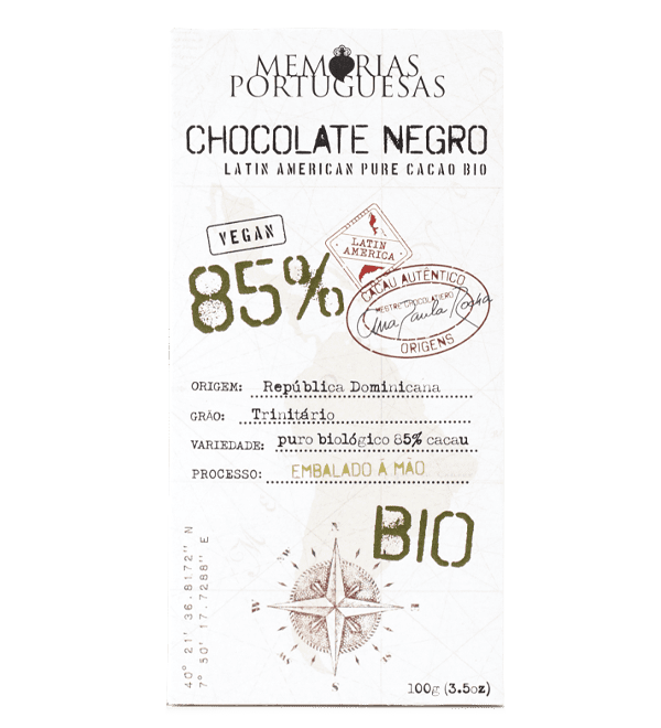 Tablete de Chocolate Negro Biológico 85% Cacau Essentia